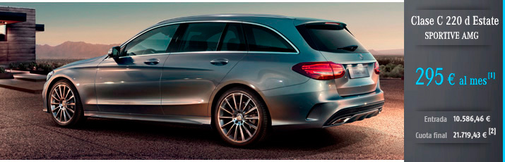 Oferta Mercedes Clase C 220d Estate con Mercedes-Benz Alternative