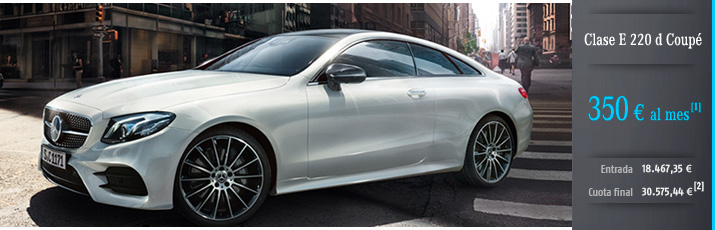 Oferta Mercedes Clase E 220 d Coupé con Mercedes-Benz Alternative
